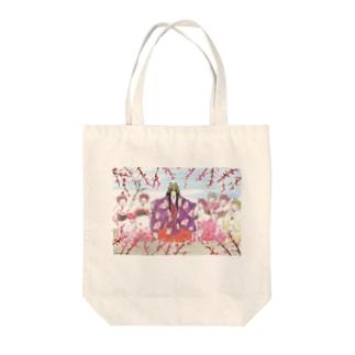 胡蝶の春は梅花と Tote bags