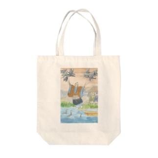 鵜飼の川上ひこう Tote bags
