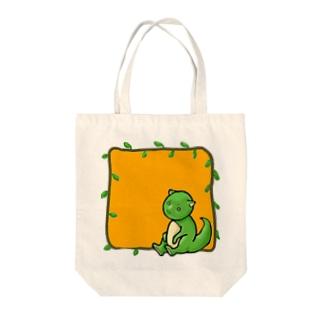 恐竜? Tote bags