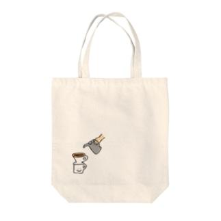 珈琲抽出 Tote bags