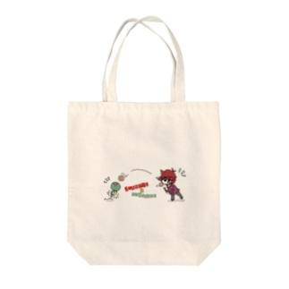 蛇ノ目とツチノメ Tote bags
