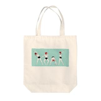 ラジオ体操 Tote bags