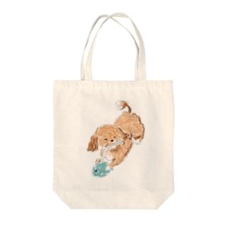 ミックス犬 Tote bags