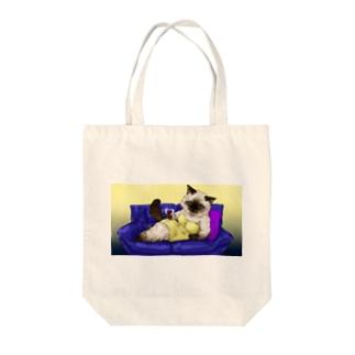 マダム❦ヒマラヤン Tote bags