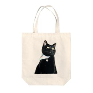 我が家の姫 クロちゃん Tote bags