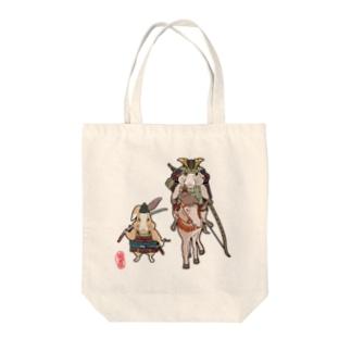 うさぎ大将Normal Tote bags
