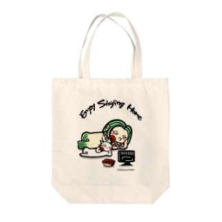 Enjoy Staying Home2 Tote bags