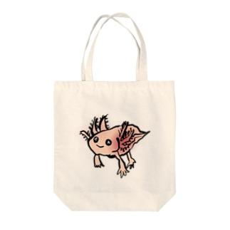 まじんさん@lineスタンプのウーパールーパー Tote bags