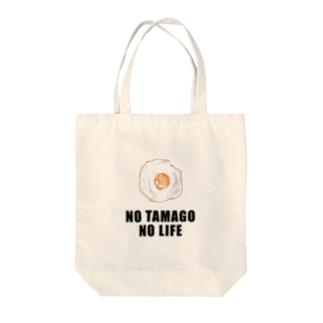 NO TAMAGO NO LIFE Tote bags