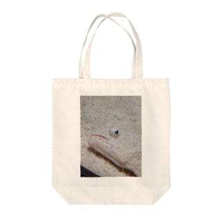 カレイだよね? Tote bags