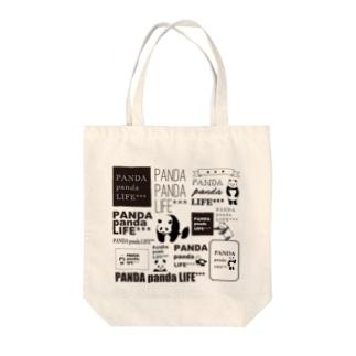 ロゴロゴ パンダ Tote bags