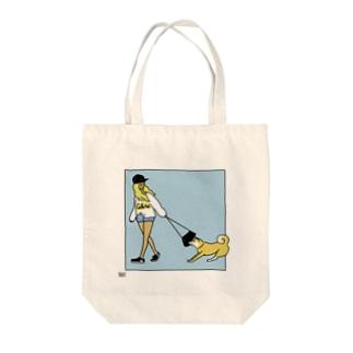 ワンデー・アイデアの外出を止める犬 Tote bags