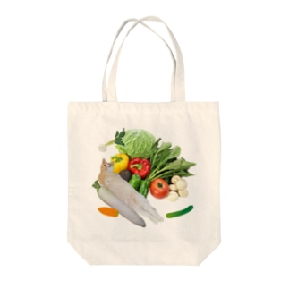 野菜の盛り合わせ・・・?(もっちー) トートバッグ