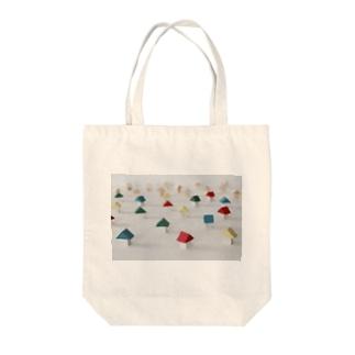 小さなおうちのカラフルな街 Tote bags