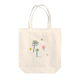 小2の絵(花火) Tote bags