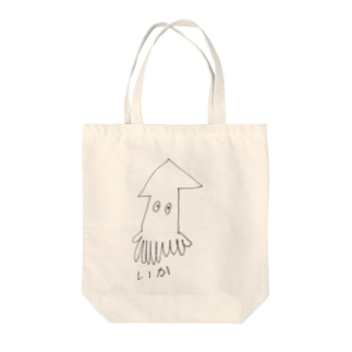 いか Tote bags