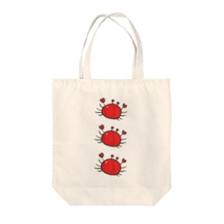 カニちゃん(縦並び) Tote bags