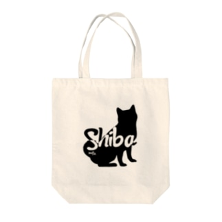 01柴犬 黒シルエット Tote bags
