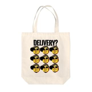 「顔爆」シリーズ Tote bags