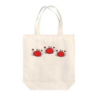 カニちゃん(横並び) Tote bags