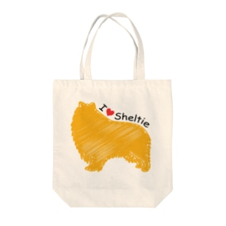 I♥Sheltie Tote bags