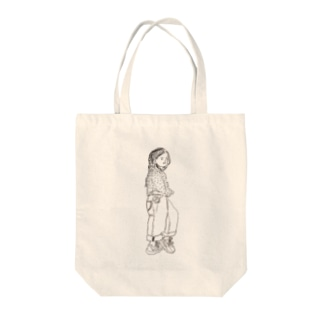 little girl Tote bags
