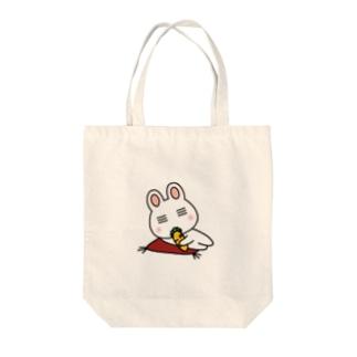ウサボー Tote bags