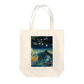 オキゴンドウクジラ浜菊 Tote bags