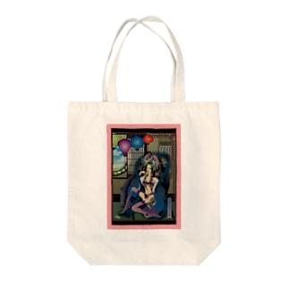 希臘原始的夜女神図 Tote bags
