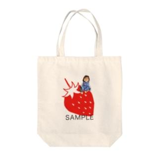 photoグッズいちご レッド Tote bags