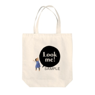 Look me!  photoグッズ ブラック Tote bags