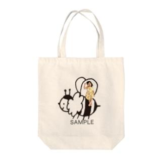 ハチ photoグッズ ブラック Tote bags