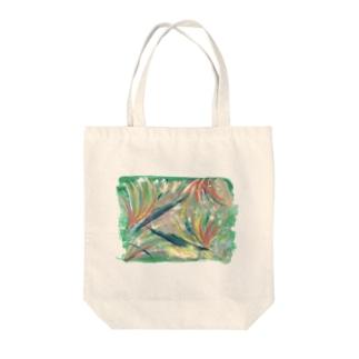 Asahi art styleの極楽鳥花 Tote bags