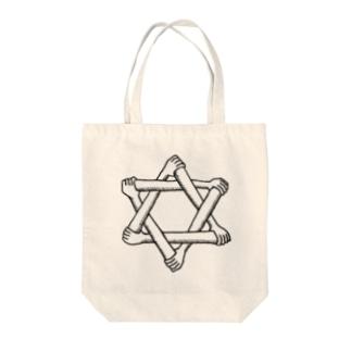 脅しの六芒星 Tote bags
