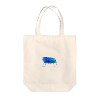 青い絵具ぶっかけちゃった Tote bags