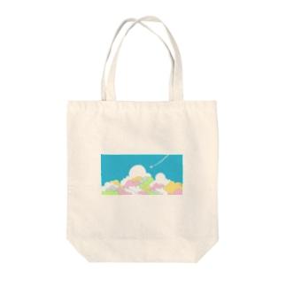 入道雲とひこうき Tote bags