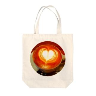 カフェワカクサのカプチーノ♪ Tote bags