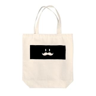 ヒゲHIGE(黒) Tote bags