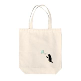 納涼ペンギン Tote bags