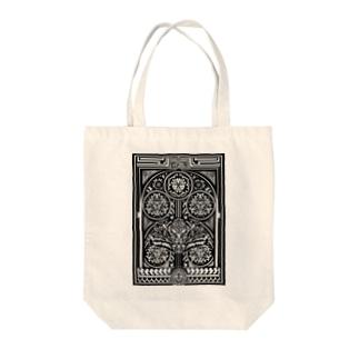 鵺 門 トライバル Tote bags
