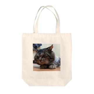 トラさんシリーズ(Big head) Tote bags