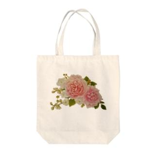 ローズブーケ Tote bags