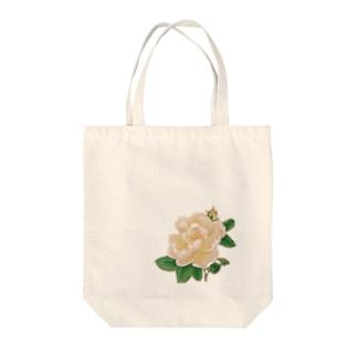 風にそよぐバラ Tote bags
