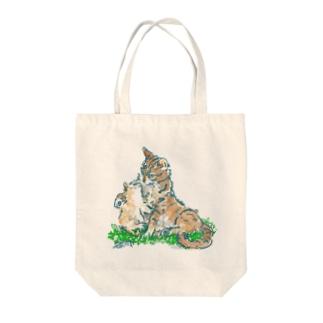 猫ちゃん 親子 Tote bags