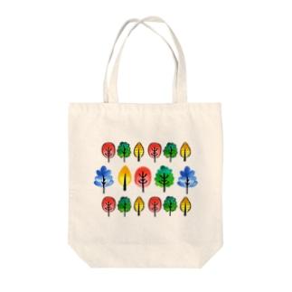 水彩イラストグッズの北欧風水彩の木 Tote bags