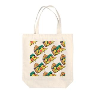欲望のピザ🍕 GUILTY PLEASURE PIZZA AO TRANSPARENCY Tote bags