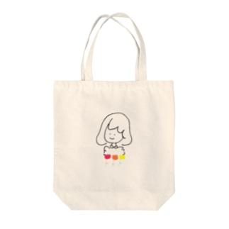 チューリップと女の子 Tote bags