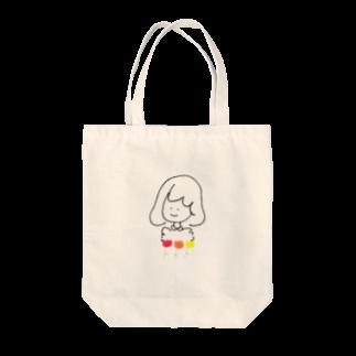 ミのチューリップと女の子 Tote bags