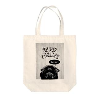 ENJOY PUG LIFE(BlackPug) トートバッグ