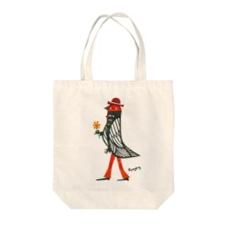 Mr.Birdman Tote bags